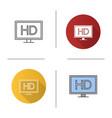 hd display icon vector image
