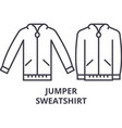 jumper sweatshirt line icon outline sign linear vector image vector image