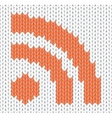 knitted rss icon vector image vector image