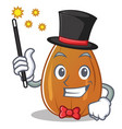 magician almond nut character cartoon vector image