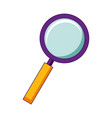 magnifying glass search isolated image vector image