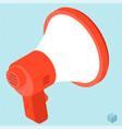 megaphone isometric icon vector image vector image