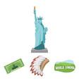 mohavk world cinema dollar a statue of liberty vector image