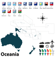Political map of Oceania vector image