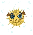 Porcupine Fish Drawing vector image vector image