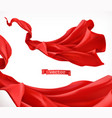 red curtain 3d realistic vector image vector image