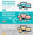 Responsive webdesign concept banner vector image vector image
