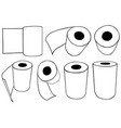 rolls of paper towels vector image