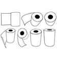 rolls paper towels vector image