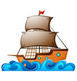 sailboat floating in the ocean vector image vector image