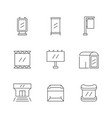 set line icons outdoor advertising vector image