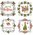 Set of Christmas ornate frames vector image