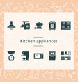 set of kitchen appliances isolated from the vector image