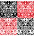 Set of Lace seamless patterns with flowers vector image vector image