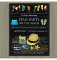 stag-party invite on the beach Holiday vacation vector image vector image