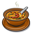 thai tom yum soup vector image
