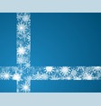 the snowflakes ribbon banner christmas new year vector image vector image