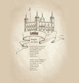 tower of london building london england uk travel vector image vector image