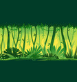 tropical rainforest nature background vector image vector image