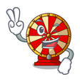 two finger spinning wheel toy isolated the vector image