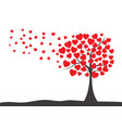 valentines day background with tree of hearts vector image