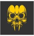 Vampire skull vector image