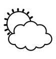 weather summer sun cloud icon thick line vector image