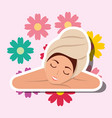 woman spa wellness vector image