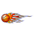 classic tribal flame with basketball isolated on vector image
