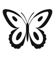 spotted butterfly icon simple style vector image