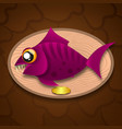 fish trophy hanging on the board vector image