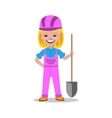 Girl builder character vector image