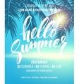 Hello Summer Party Flyer Design vector image
