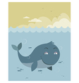 Whale at sea vector image
