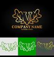 02 oak letter v vector image vector image