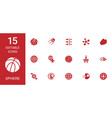 15 sphere icons vector image vector image