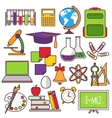 A set of school and education icons vector image vector image