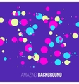 Abstract randomly dotted colorful background vector image