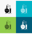 analysis chemistry flask research test icon over vector image vector image
