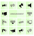 announcement icons vector image vector image