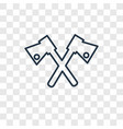 axe concept linear icon isolated on transparent vector image vector image
