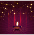 beautiful diya background for diwali festival vector image vector image