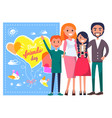 best friends day template poster with family vector image