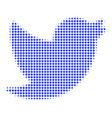 bird halftone icon vector image