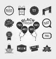 black friday offer discount collection icons with vector image