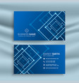 blue abstract shape business card design vector image vector image