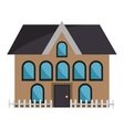brown house and coloful windows graphic vector image vector image