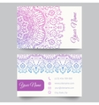 Business card template purple and white beauty vector image