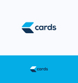 Cards C logo vector image vector image