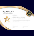 certificate template diploma modern design or vector image vector image